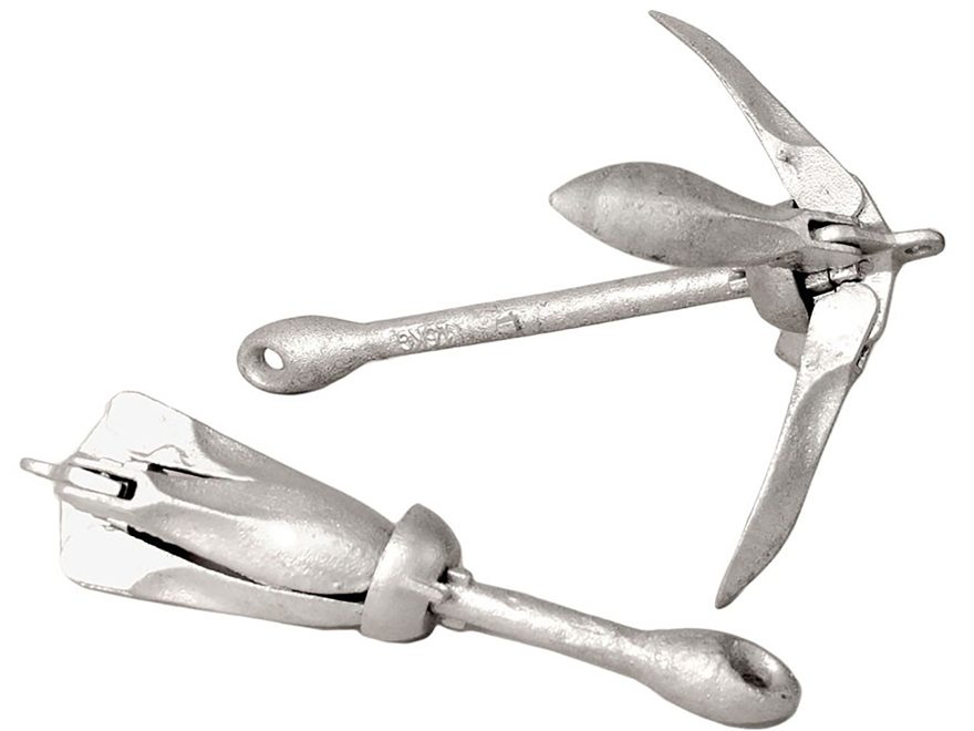 Rig'Em Right Folding Grapnel Anchor 3 lb Lead