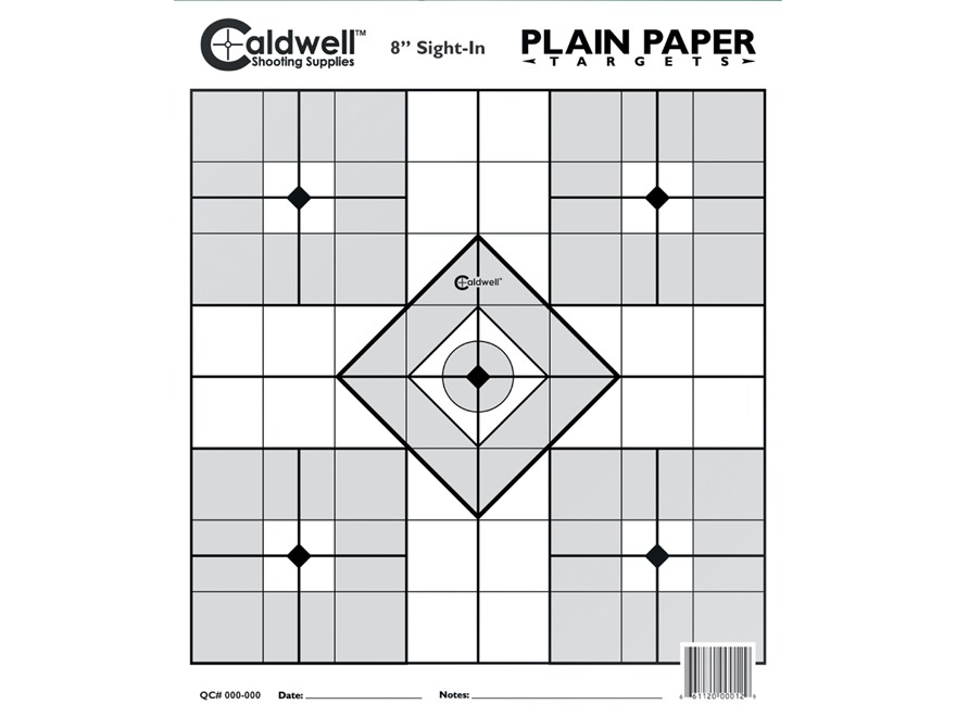 "Caldwell Plain Paper Targets 8"" Sight-In Package of 25"