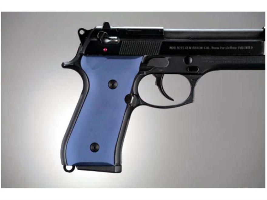 Hogue Extreme Series Grip Beretta 92F, 92FS, 92SB, 96, M9 Aluminum Matte Blue