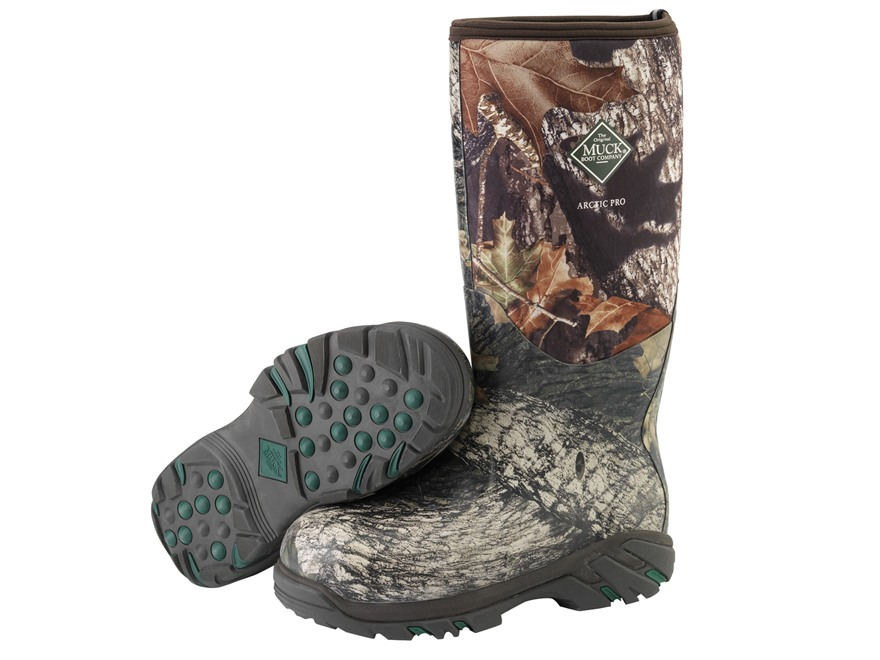 "Muck Arctic Pro 17"" Waterproof Insulated Hunting Boots Rubber and Nylon Mossy Oak Break..."