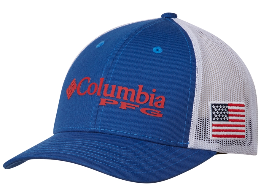 Columbia PFG Mesh Flexfit Fitted Ball Cap Cotton