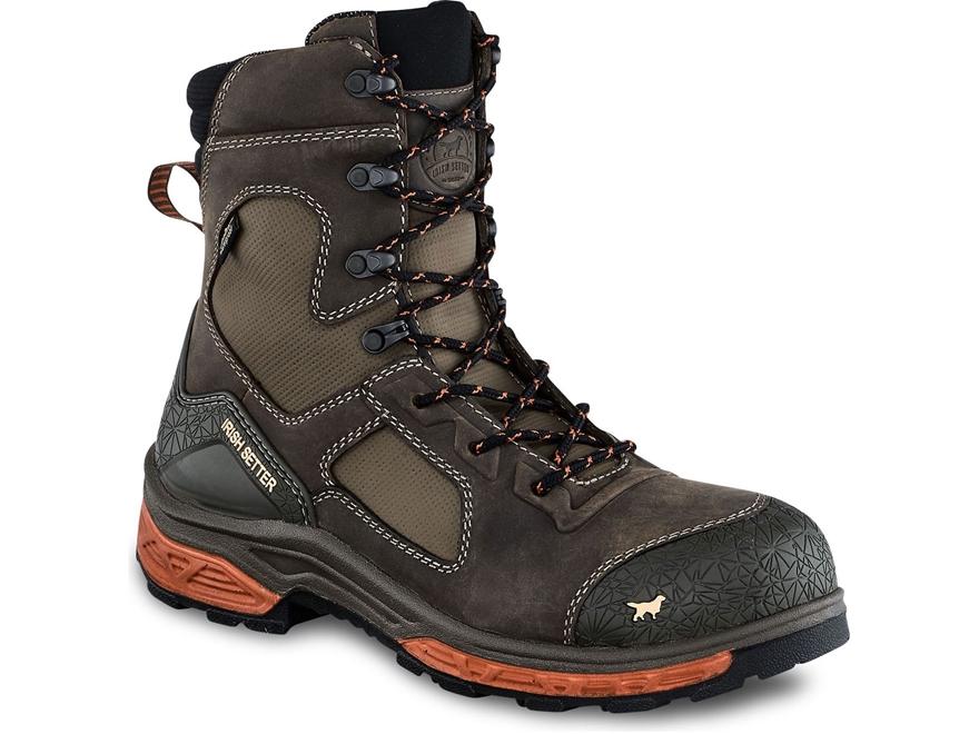 """Irish Setter Kasota 8"""" Waterproof Non-Metallic Safety Toe Work Boots Men's"""