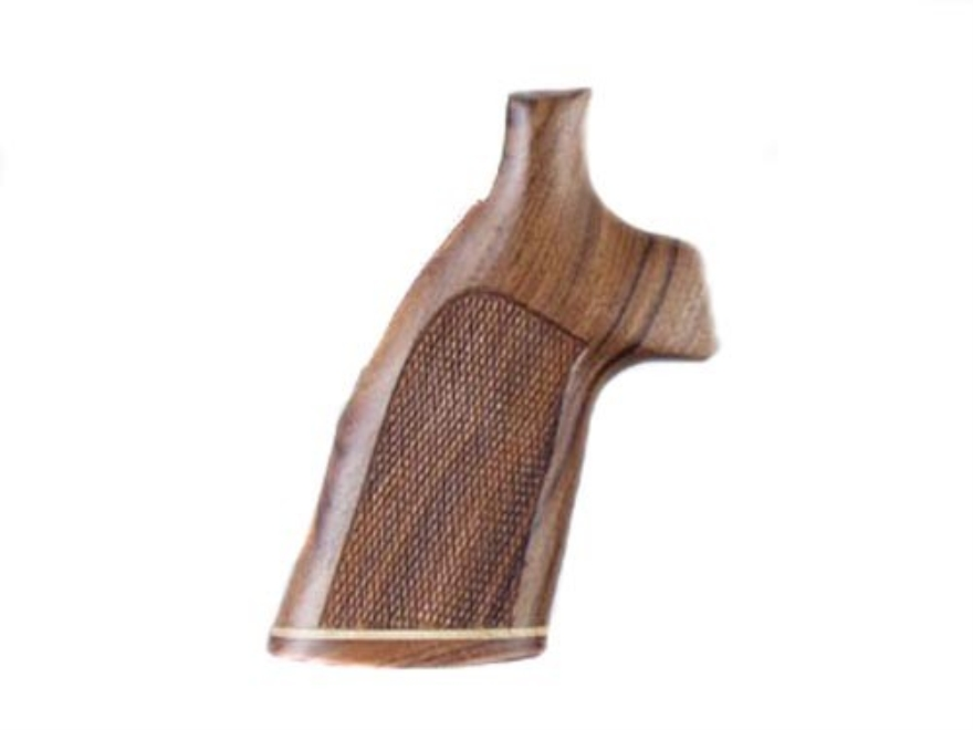 Hogue Fancy Hardwood Grips with Accent Stripe Colt Trooper Mark III Checkered