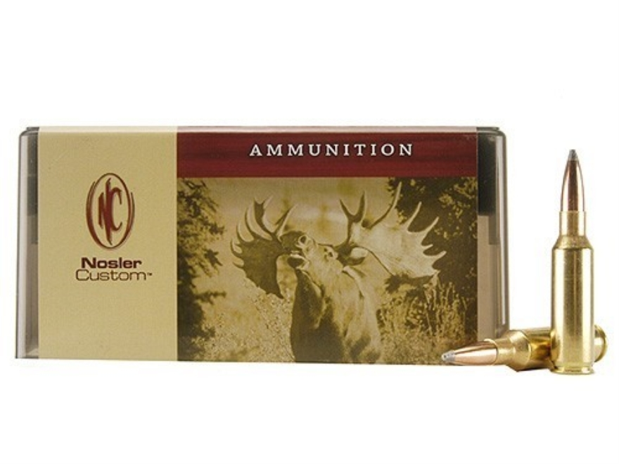 Nosler Custom Ammunition 300 Remington Short Action Ultra Magnum 165 Grain Partition Sp...