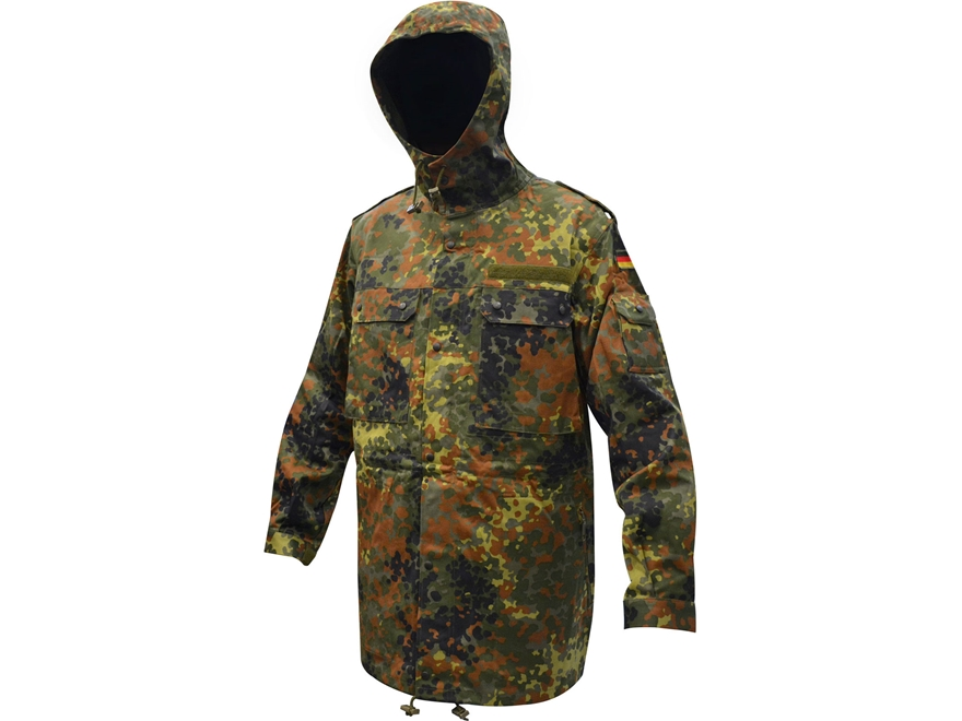 Surplus German Cold Weather Parka Flecktarn Camo