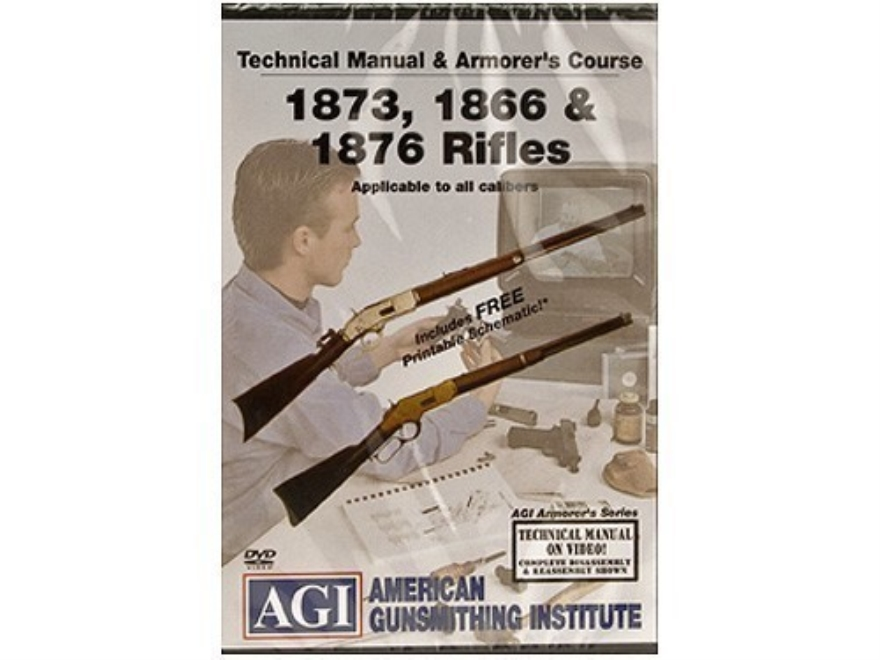 "American Gunsmithing Institute (AGI) Technical Manual & Armorer's Course Video ""Winches..."