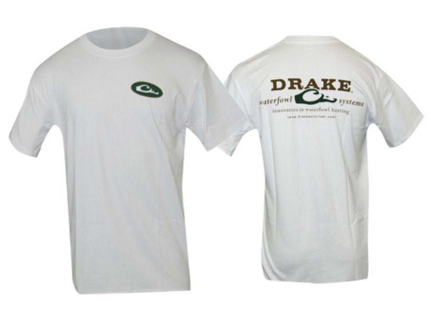 Drake Men's Logo T-Shirt Short Sleeve Cotton White Large