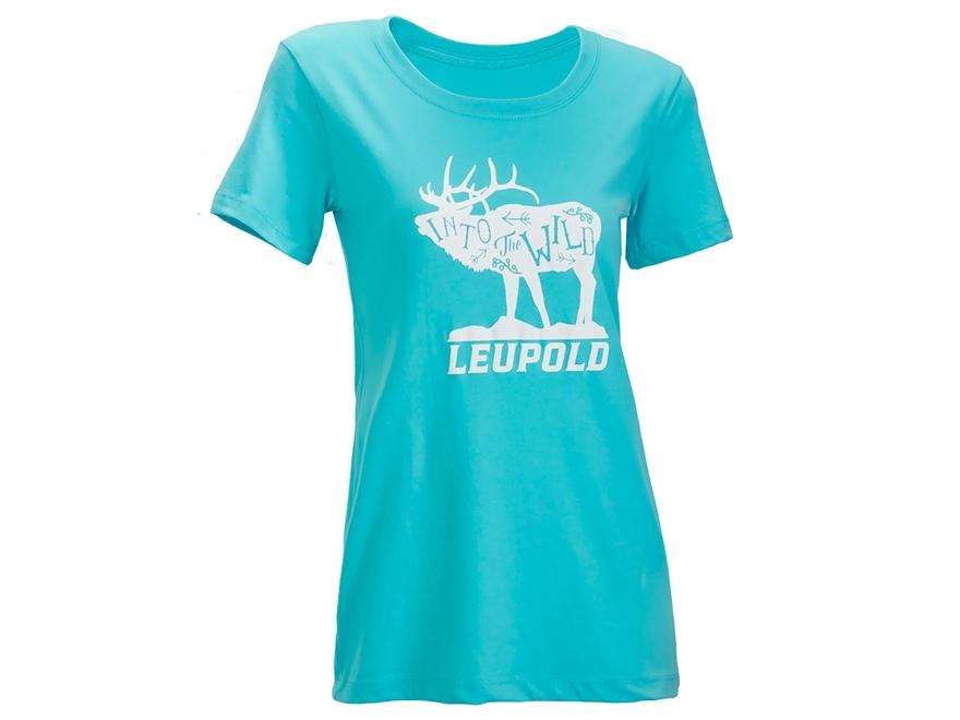 Leupold Women's Wild Scoop Neck T-Shirt Short Sleeve Cotton/Poly
