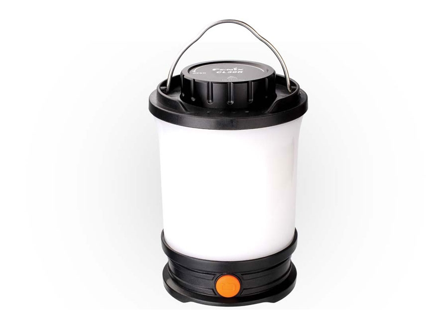 Fenix CL30R Lantern with 3 USB Rechargeable 2600 mAh Li-ion Batteries Polymer Black