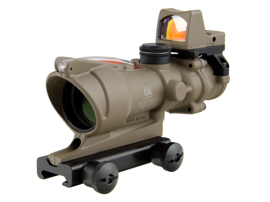 Trijicon ACOG TA31-RMR BAC Rifle Scope 4x 32mm Dual-Illuminated Crosshair 223 Remington...