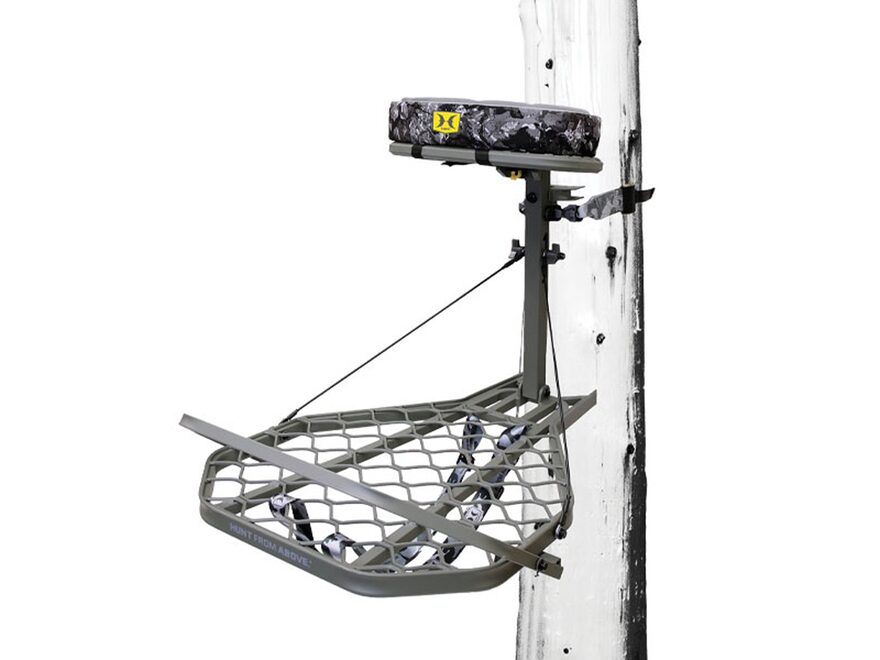 Hawk Helium Pro Hang On Treestand Aluminum Gray