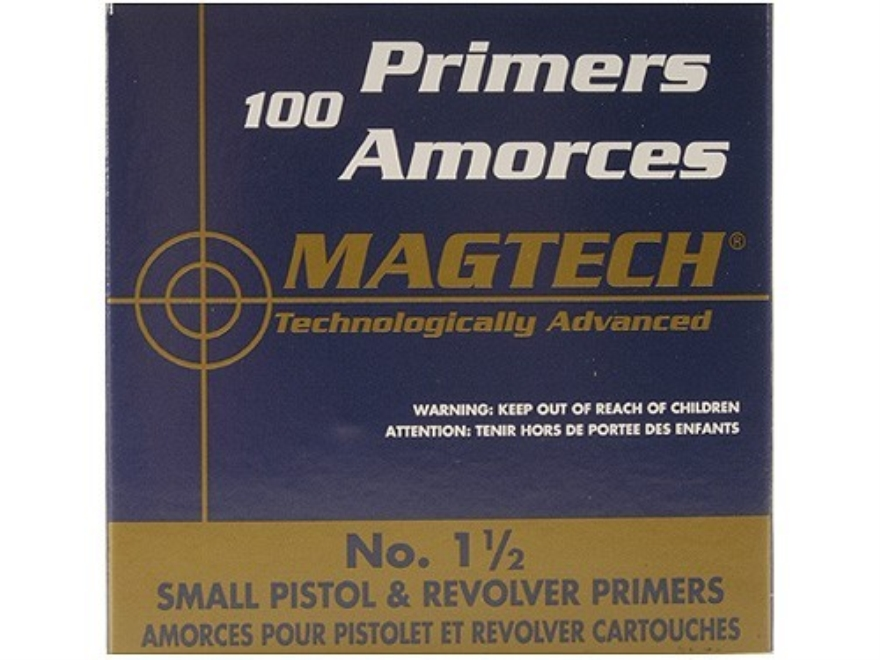 Magtech Small Pistol Primers #1-1/2 Box of 1000 (10 Trays of 100)