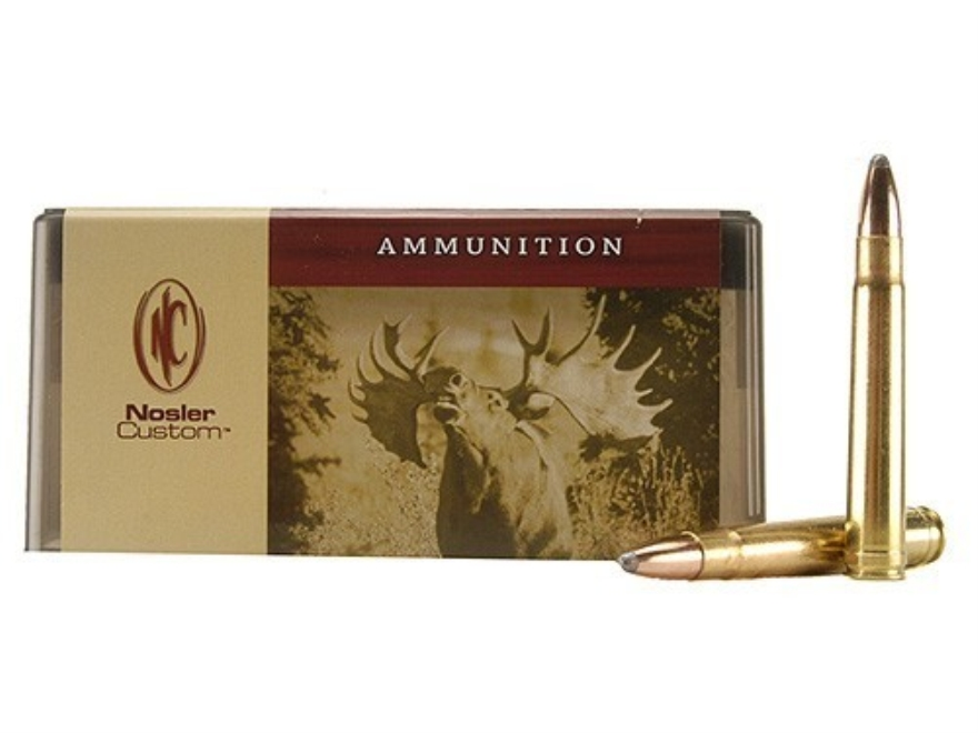 Nosler Custom Ammunition 375 H&H Magnum 300 Grain Partition Spitzer Box of 20