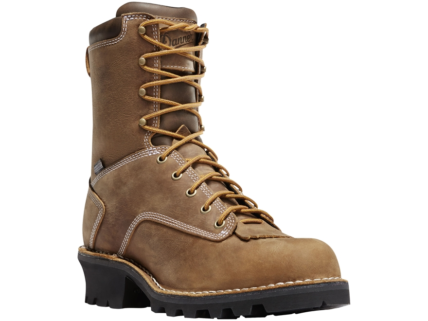 "Danner Logger 8"" Waterproof 400 Gram Insulated Work Boots Full-Grain Leather Men's"