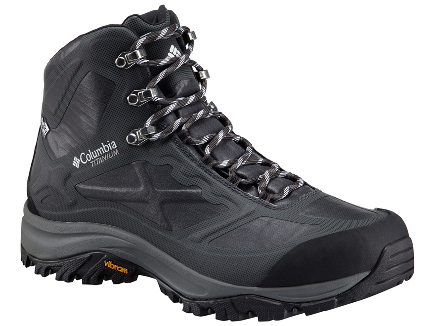 """Columbia Terrebonne Outdry Extreme Mid 6"""" Waterproof Hiking Boots Leather Black/White M..."""