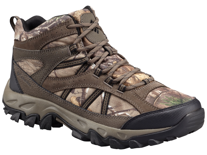 "Columbia Tangent Pass Mid 5"" Hunting Boots Leather/Nylon Realtree Xtra Camo Men's"