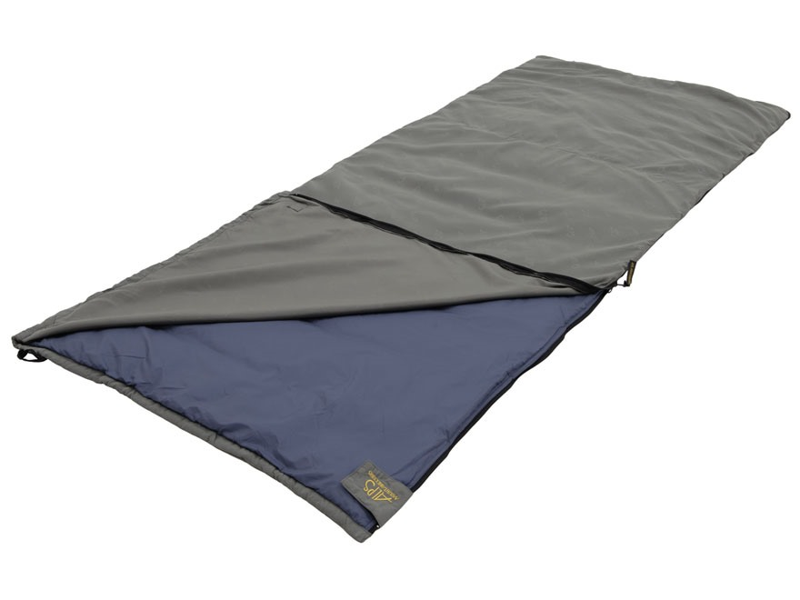 ALPS Mountaineering Summer Lake 55 Degree Sleeping Bag Polyester Gray and Blue