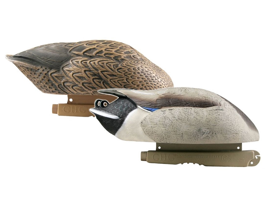 GHG Pro-Grade Mallard No-Head Feeder Duck Decoy Pack of 2