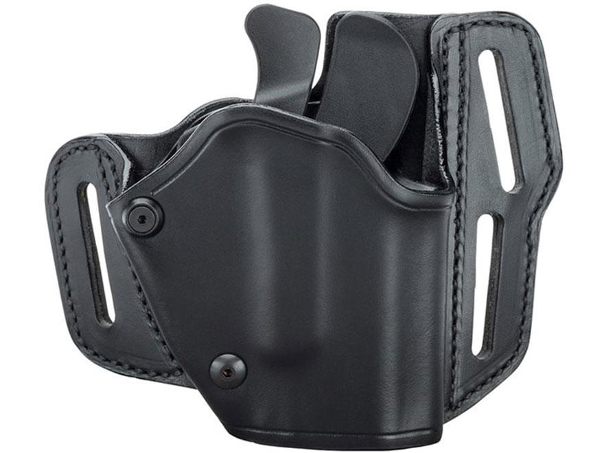 BLACKHAWK! GripBreak Belt Holster Leather Black