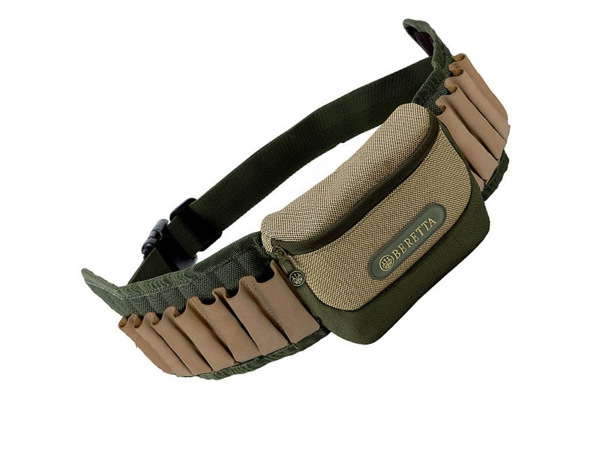 Beretta Retriever Cartridge Belt 12 Gauge 20 Round Nylon Green/Tan
