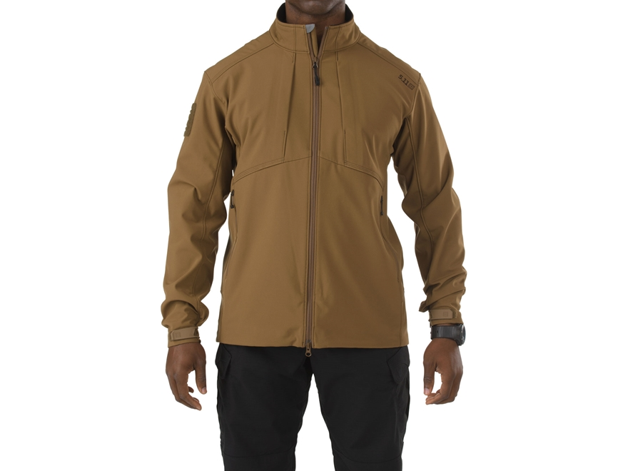 5.11 Men's Sierra Softshell Jacket Polyester Battle Brown Large