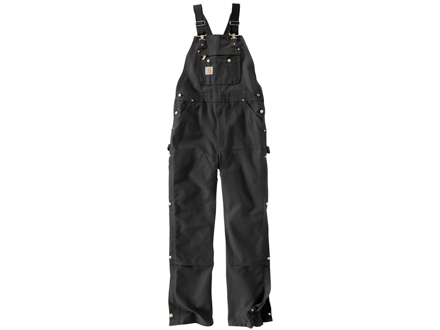 Carhartt Men's Unlined Zip To Thigh Bib Overalls Cotton