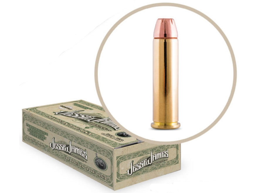 Jesse James TML Ammunition 357 Magnum 158 Grain Jacketed Hollow Point Box of 50