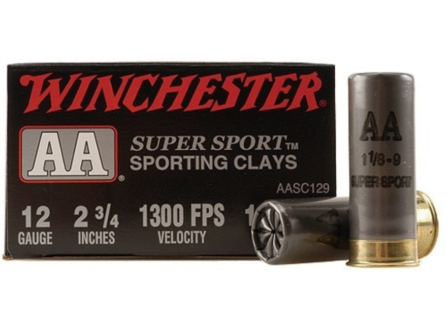 "Winchester AA Super Sport Sporting Clays Ammunition 12 Gauge 2-3/4"" 1-1/8 oz #9 Shot"