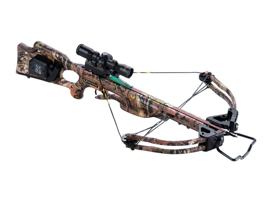 TenPoint Titan Xtreme Crossbow Package with 3x Pro-View 2 Scope and ACUdraw 50 Mossy Oa...