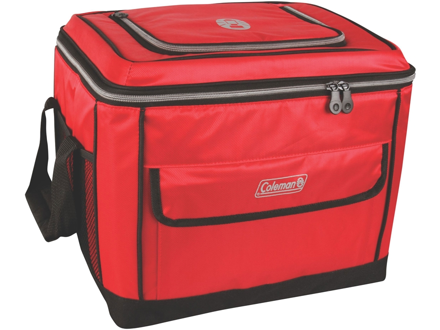 Coleman Active Family 40 Can Collapsible Soft Sided Cooler Red