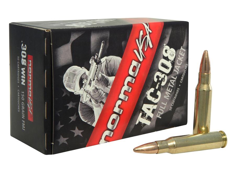 Norma USA TAC Ammunition 308 Winchester 150 Grain Full Metal Jacket