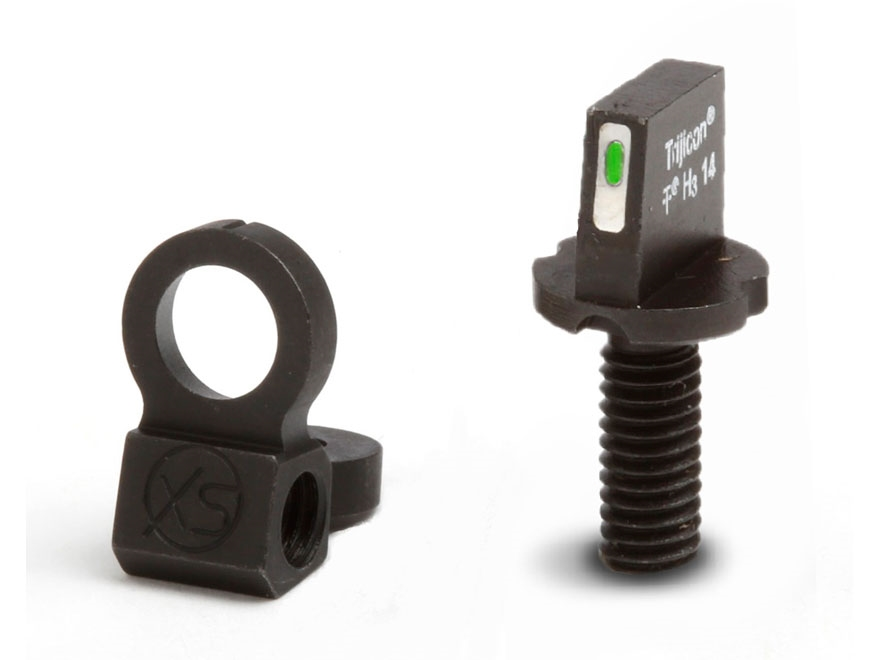 XS Tactical Night Sight Set AR-15 Steel Matte Tritium Bar Front, Ghost Ring Rear