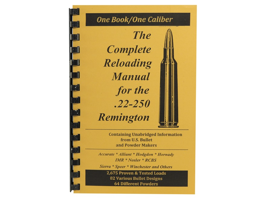 "Loadbooks USA ""22-250 Remington"" Reloading Manual"