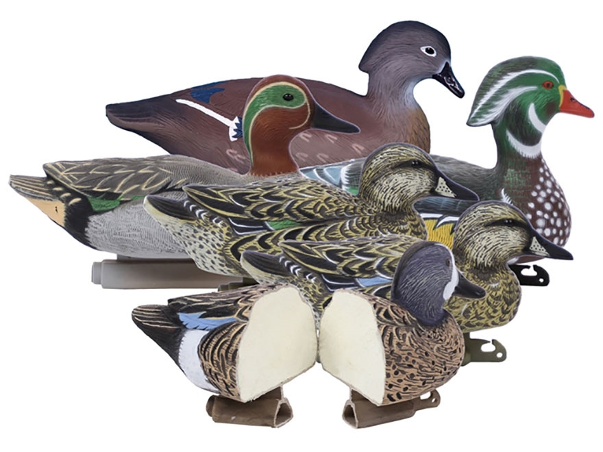 Higdon Standard Foam Filled Puddle Pack Duck Decoy Polymer Pack of 6