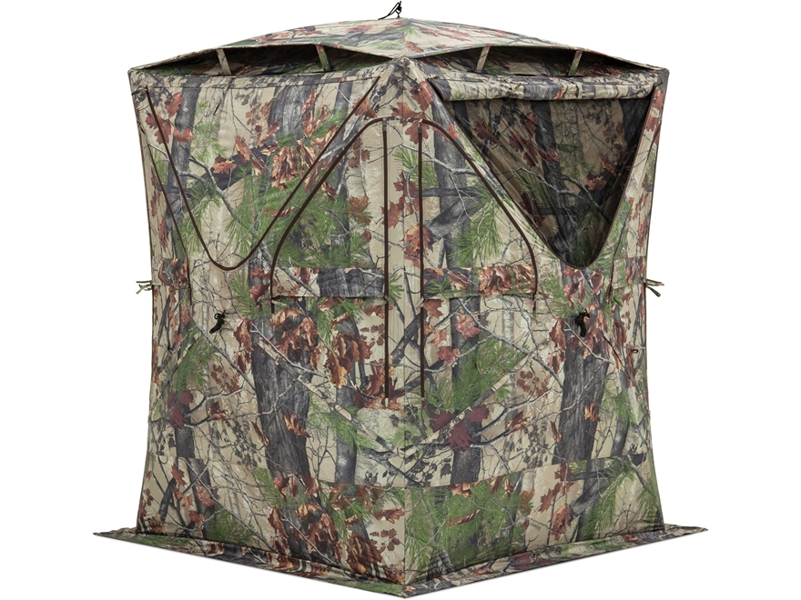 "Barronett Big Mike Ground Blind with Vents 75"" x 75"" x 80"" Polyester Backwoods Camo"