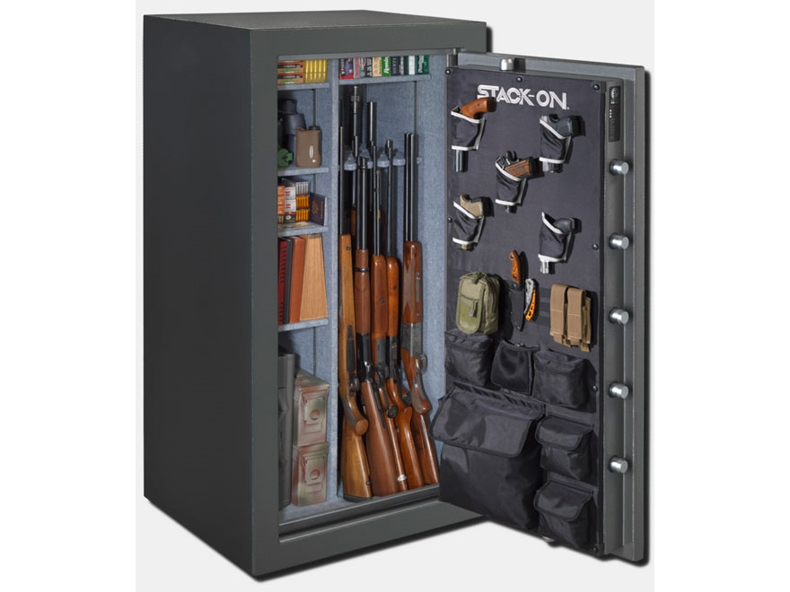 Stack-On Total Defense Waterproof Fire Resistant 36-40 Gun Safe with Biometric Electron...