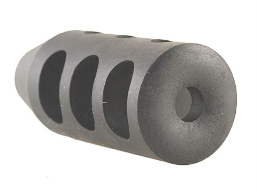 """Holland's Quick Discharge Muzzle Brake 1/2""""-28 Thread .530""""-.575"""" Barrel Tapered Chrome..."""