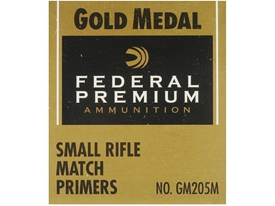 Federal Premium Gold Medal Small Rifle Match Primers #205M