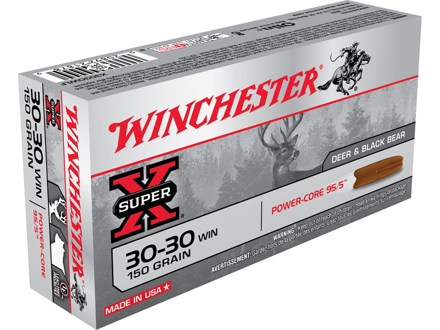 Winchester Super-X Power-Core 95/5 Ammunition 30-30 Winchester 150 Grain Hollow Point B...