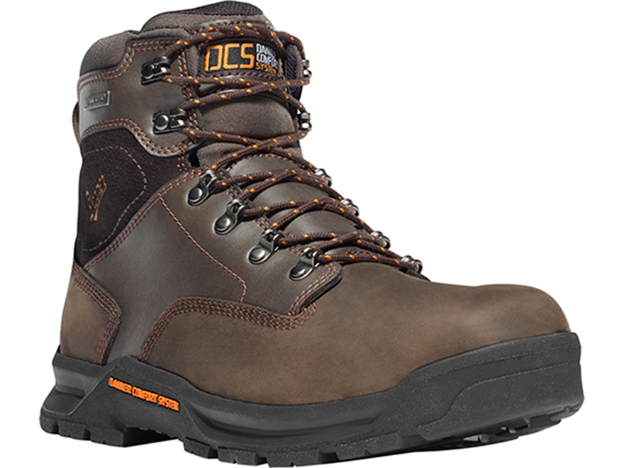 "Danner Crafter 6"" Waterproof Uninsulated Non-Metallic Toe Work Boots Leather Brown Men's"