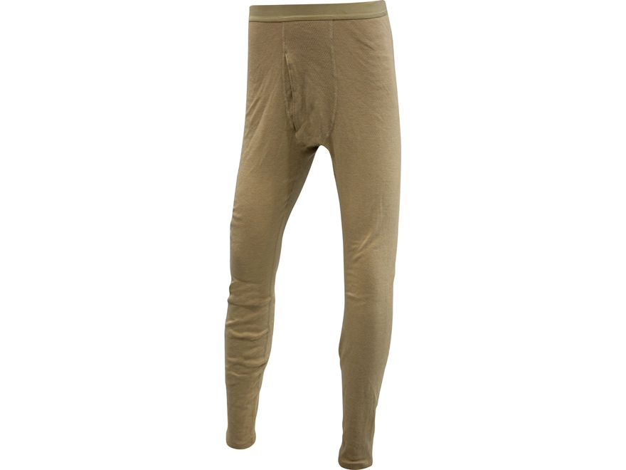 Military Surplus Level 2 Silk-Weight Base Layer Pants Flame Resistant Sand