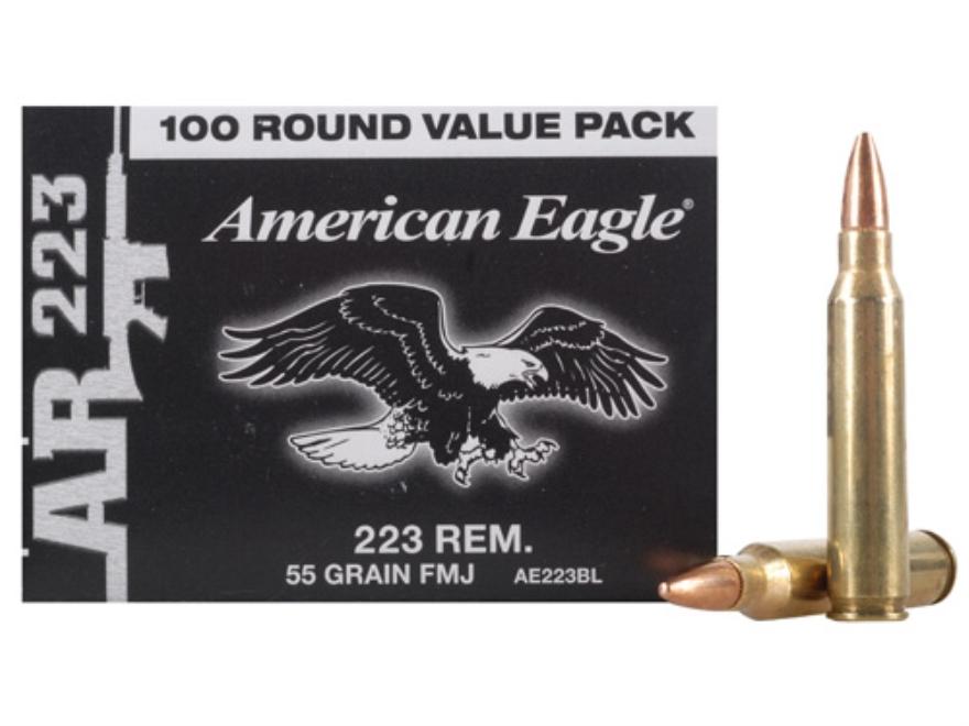 Federal American Eagle Tactical AE223 Ammunition 223 Remington 55 Grain Full Metal Jack...