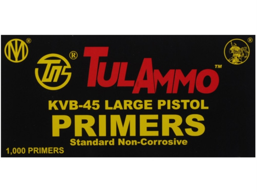 TulAmmo Large Pistol Primers Box of 1000 (10 Trays of 100)
