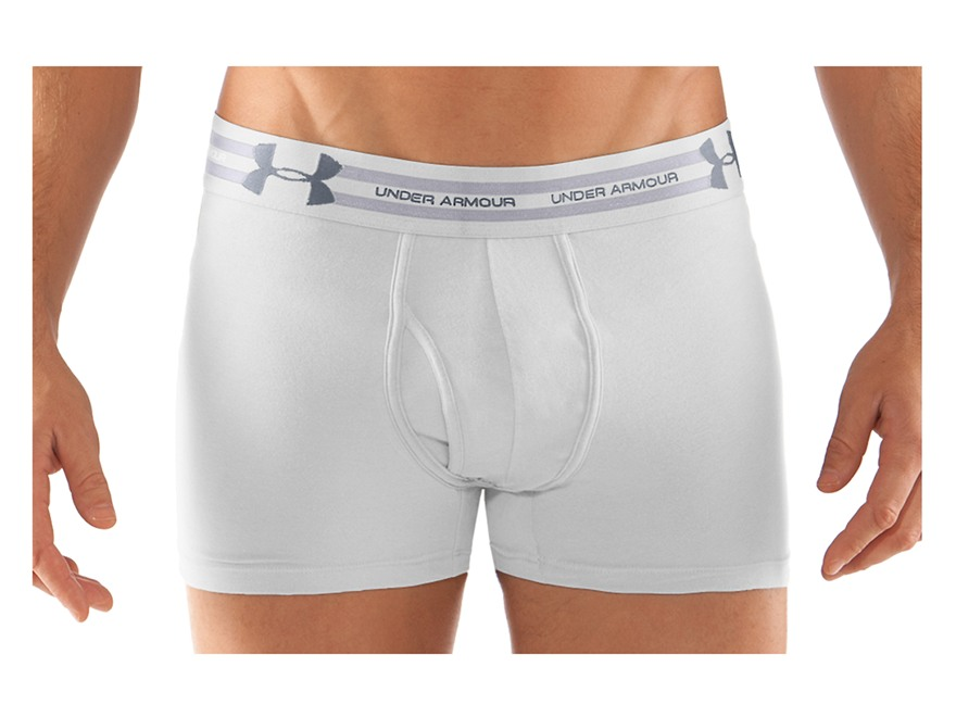 "Under Armour Men's 3"" Charged Cotton Boxerjock Underwear"