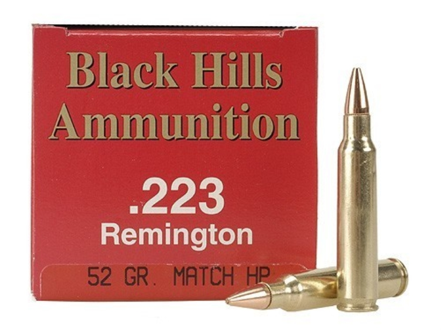 Black Hills Ammunition 223 Remington 52 Grain Match Hollow Point Box of 50