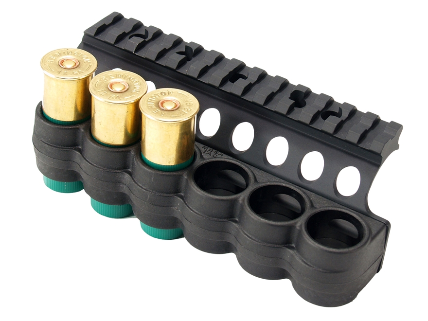 """Mesa Tactical Sureshell Shotshell Ammunition Carrier with 5-1/2"""" Picatinny Optic Rail 1..."""