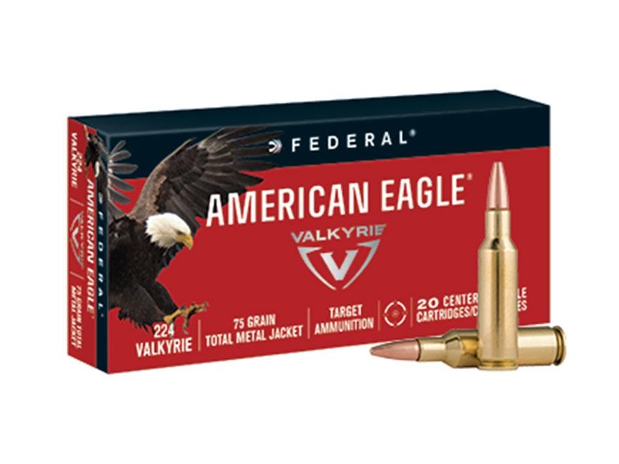 Federal American Eagle Ammunition 224 Valkyrie 75 Grain Total Metal Jacket