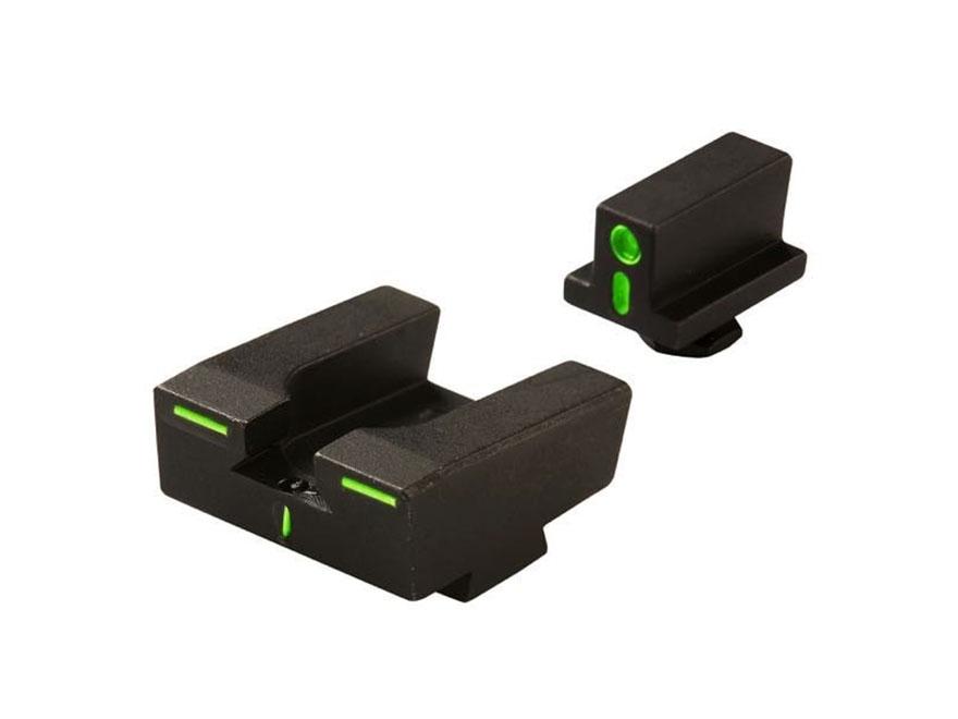 Meprolight R4E Sight Set Glock 17, 19, 22, 23, 34, 35 Steel Tritium Green Front and Ora...