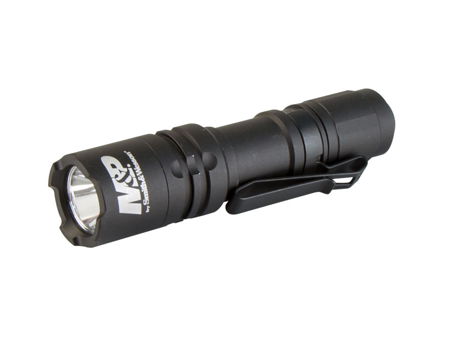 Smith & Wesson Delta Force CS-10 Flashlight LED with 1 AA Battery Aluminum Black