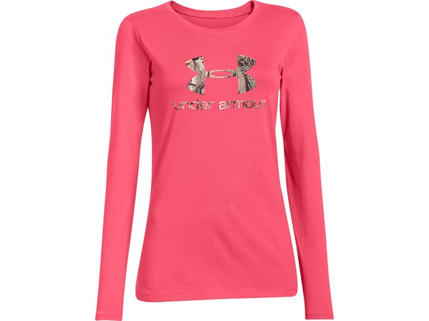 Under armour women 39 s camo fill logo t shirt long upc for Under armour long sleeve t shirts women